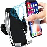 Saug-Handyhalter Lade Halterung F/ür Iphone Samsung Huawei Android Handy Keepart IR Automatisches Festklemmen Qi Drahtlose Kfz-ladeger/ät Bel/üftungs/öffnung