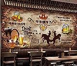 Papel Tapiz Mural Pared De Ladrillo Vintage ¿Tienes Vinoteca Restaurante Fondo Pared Decorativa-200Cmx140Cm