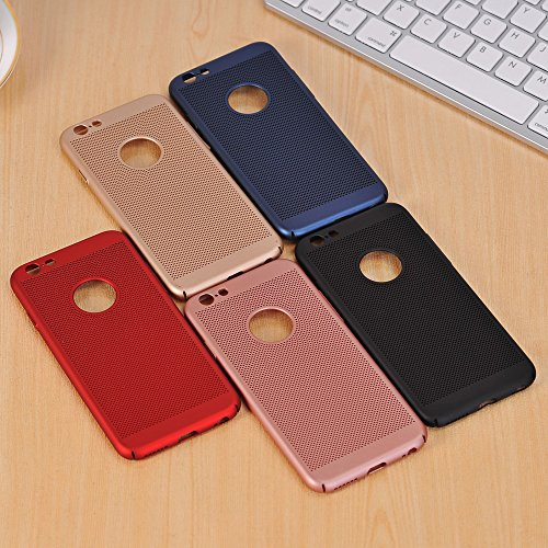 EKINHUI Case Cover Für Apple IPhone 6 u. 6s Fall Normallack-Metallaluminiumlegierungs-Ineinander greifen-Kasten Ultra dünner dünner leichter Hitze-Dissipation-rückseitige Abdeckung ( Color : Gold ) Rose Gold