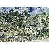 VINCENT VAN GOGH Thatched Cottages en Cordeville, detalle c1890 * 250gsm brillante cuadro decorativo A3 precisa Póster