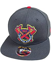 bcea8f7f47edb A NEW ERA Era Atlanta Braves Black MLB Cooperstown Snapback Cap 9fifty  Limited Edition