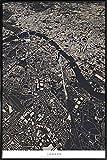 """JUNIQE® Bild mit Rahmen 20x30cm Stadtpläne London - Design """"London City Map"""" (Format: Hoch) - Wandbilder, Gerahmte Bilder & Gerahmte Poster von unabhängigen Künstlern - Kunst & Bilder von London - entworfen von Maptastix"""