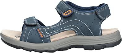 Valleverde Sandalo Uomo Tessuto e Pelle 54802 Moro o Blu Una Calzatura Comoda Adatta per Tutte Le Occasioni. Primavera Estate 2020