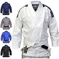 Kimono Valor Bravura de jiu-jitsu brésilien blanc avec ceinture blanche incluse