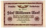 Banknoten Fünf Millionen Mark, Deutsches Reich, 1923, Nr. 29112