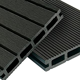 WPC Terrassendielen Basic Line   Komplett Set Dunkelgrau | 20m² (4m X 5m)