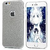 iPhone 6 Plus / 6s Plus Funda Silicona de Gel TPU Case Suave Con Bling Rhinestone Crystal - Mavis's Diary® Funda para móvil Carcasa Resistente a los Arañazos Color de plata