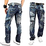 001 DESIGNER Straight KOSMO LUPO JEANS HOSE JEANSHOSE JEANS PANTS (W30/L32)