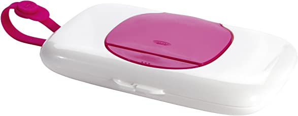 OXO TOT on-The-Go Wipes Dispenser (White and Pink)