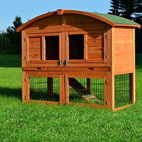 Stall Villa Runddach Kaninchenstall Hasenstall Kaninchenkäfig Hasenkäfig