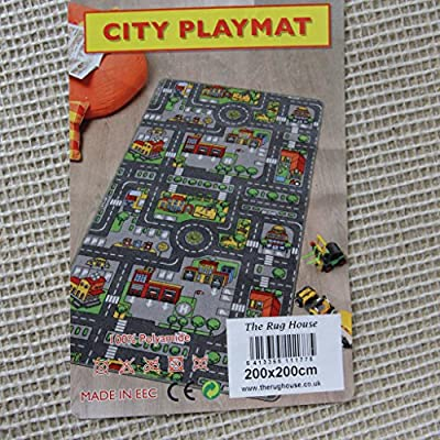 Children's Play Village Mat Town City Roads Rug - inexpensive UK rug store.