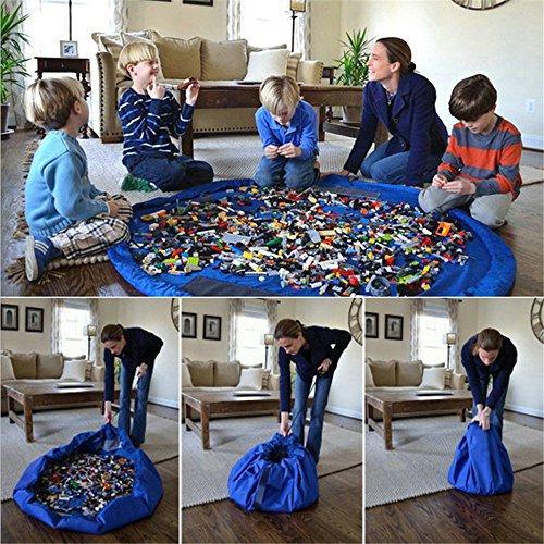 y Matte Faltbare Baby Spielzeug Aufbewahrung erhalten Tasche für Home, Outdoor Picknick, Strand Teppich über 152,4cm blau (Outdoor-baby-spielzeug)