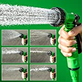 #4: Krevia Deluxe Hand Sprayer - 7 Spray Settings Water Saving Plastic Garden Hose End Sprayer. Best Multi Purpose Attachment for Watering Lawn, Plants, Patio Cleaning, Home, Automotive / Car Wash Use Expandable Hose 50 Feet, Expanding, No Kinking, Flexible, Lightweight, Super Strong, As Seen On TV, Shrinking Hose, Flexable Hose, Expands to 3 Times it's Original Length, Water Garden, Plants, Grass. (Colour May Vary)