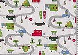 Fester Baumwollstoff/Lars / Polizei, Feuerwehr, weiß/Meterware / Taschen nähen/Kissen nähen/Stoff für Kinderzimmer