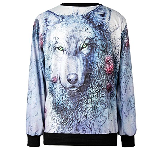 THENICE Women'Pullover Sweatershirts Digital Print Hand-painted Langtou