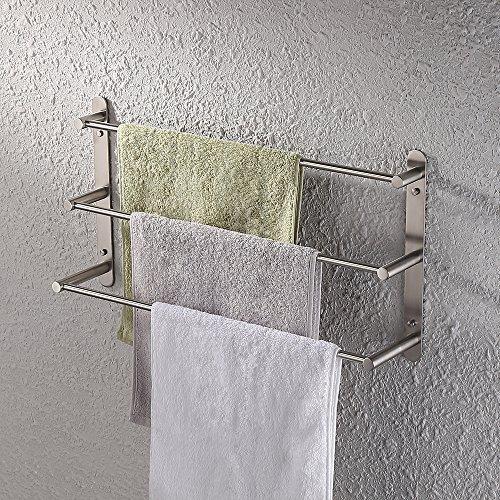 KES Bad 3-tiers Handtuch Bar/Handtuch Rack Lagerung Organizer Kleiderbügel 60Wandhalterung, gebürstet SUS304Edelstahl Finish, bth202s3–2 (Satin Gatco Handtuchhalter)
