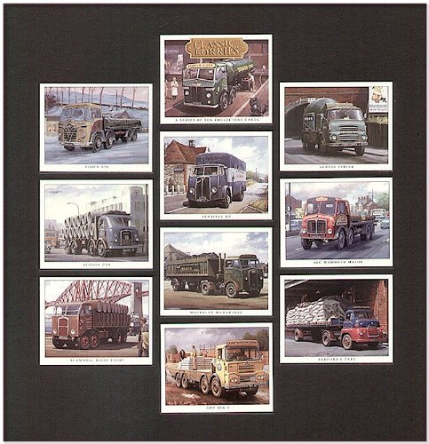 Classic LKW Trading Cards Foden S20 (Robsons von Carlilsle) Seddon DD8 Underwood'S (starr) Ltd Scammell acht &T G Cunningham) Sentinel DV Capel'S (Verkehr) Maudslay Maharanee Thomas (schwarz) Ltd Guy J (Big Blue Circle Zement) Albion Reiver (Picon Zement) AEC (Anderson'S Mammoth Major) von Newhouse Bedford S- type Knowles (Verkehr)