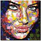 KUNST DRUCK Gemälde Leinwand modern abstrakt Bild 853 Portrait SIGNIERT 100x100