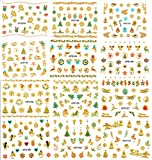 Nail Stickers Decals CHRISTMAS 3D Art Decorations Sheets Self Adhesive Gels Acrylics 270 pc. (Set 1)