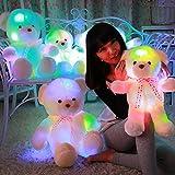 MFEIR El oso de peluche con música y siete clase luz para los regalos de cumpleaños de las niñas 35cm