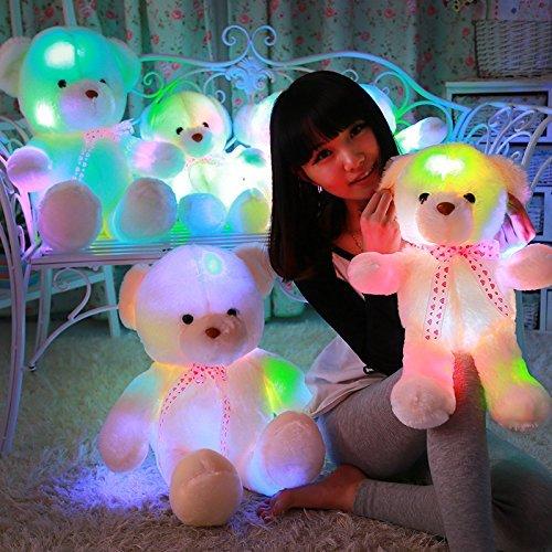MFEIR El oso de peluche y siete clase luz para los regalos de cumpleaños de las niñas 35cm