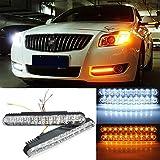 Yongse 2pcs Auto Tagfahrlicht DRL Tageslichtlampe mit Blinker