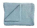 Schardt 15 100 213 Babystrickdecke Sunny, 75 x 100 cm, blau