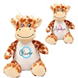 Personalised Giraffe Soft Toy with Name & Initial, Baby Toy, Personalised New Baby Gift, Newborn Baby Gift, Baby Boy…