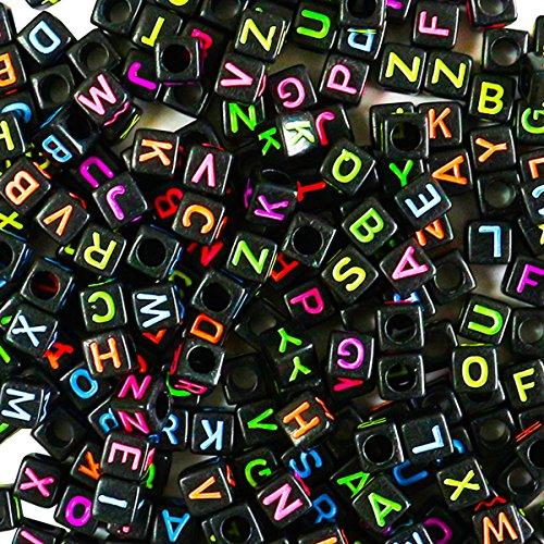 habet Buchstabenperlen von Kurtzy - 5 x 5mm DIY Armband, Halsketten-Herstellung und Kinderschmuck Bastelperlen - Acryl-Buchstaben Bunte Perlen für Qualitäts-Spaß und -Ergebnisse (Pony Für Halloween Sale)