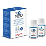 Polti PAEU0243 Paeu0244 2 Flacons de 50 ML de Détergent Adjuvant Hpmed pour L'Action Désinfectante de la Vapeur Sani System C
