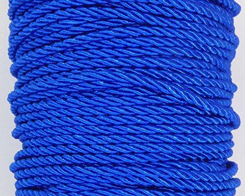 Nastri in tessuto cordone tre capi da 3 mm per 25 metri (blu)