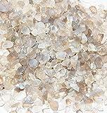 Edelsteine, grauer Achat getrommelt, Größe XXS, 250 g