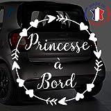 Anakiss Sticker b/éb/é /à bord pour voiture Pr/énom Personnalis/é Minnie 15 cm Blanc