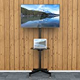 "1home Mobile TV Cart Floor Stand Mount Home Display Trolley for 23""-55"" Plasma/LCD/LED"