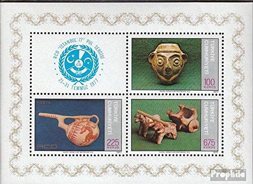 Prophila Collection Türkei Block17 (kompl.Ausg.) 1977 ISTANBUL´77 (Briefmarken für Sammler) Glas / Keramik / Porzellan -