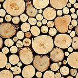 murando - Vlies Tapete - Deko Panel Fototapete - Wandtapete - Wand Deko - 10 m Tapetenrolle - Mustertapete - Wandtapete - modern design - Dekoration - Holz 1602-8