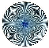 Mino Groß Japanische Porzellan Teller Sendan Tokusa, Essteller, Platzteller, ∅ 25 cm