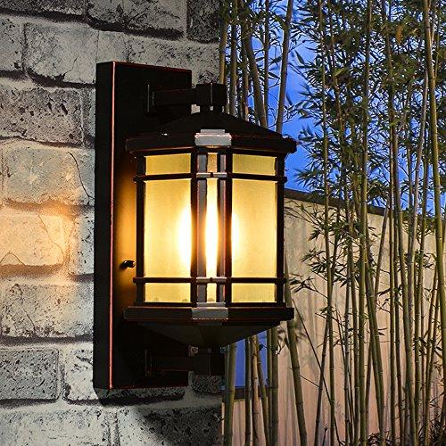 Klassische Bronze-schüssel (Modernen Einfache Wall light Outdoor Garten Villa Tür Landschaft Terrasse Korridor Balkon Wände Wandlampen Wasser Metall WandLeuchte E27*1)