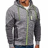 SANFASHION Kapuzenpullover Herren Neue Outwear Pullover Winter Hoodie Warmer Mantel Jacke Schlank mit Kapuze Sweatshirt