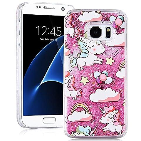 SMART LEGEND für Samsung Galaxy S7 Hardcase Liquid Hülle Glitter