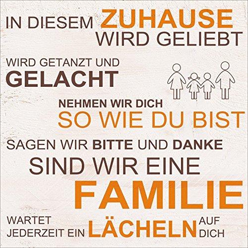 Artland Kunstdruck I Poster W. L. In diesem Zuhause - beige Statement Bilder Sprüche & Texte...