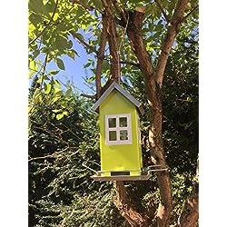 Casa de pájaros para colgar–Pájaro Casita de metal | Comedero para pájaros Ideal para balcón y jardín