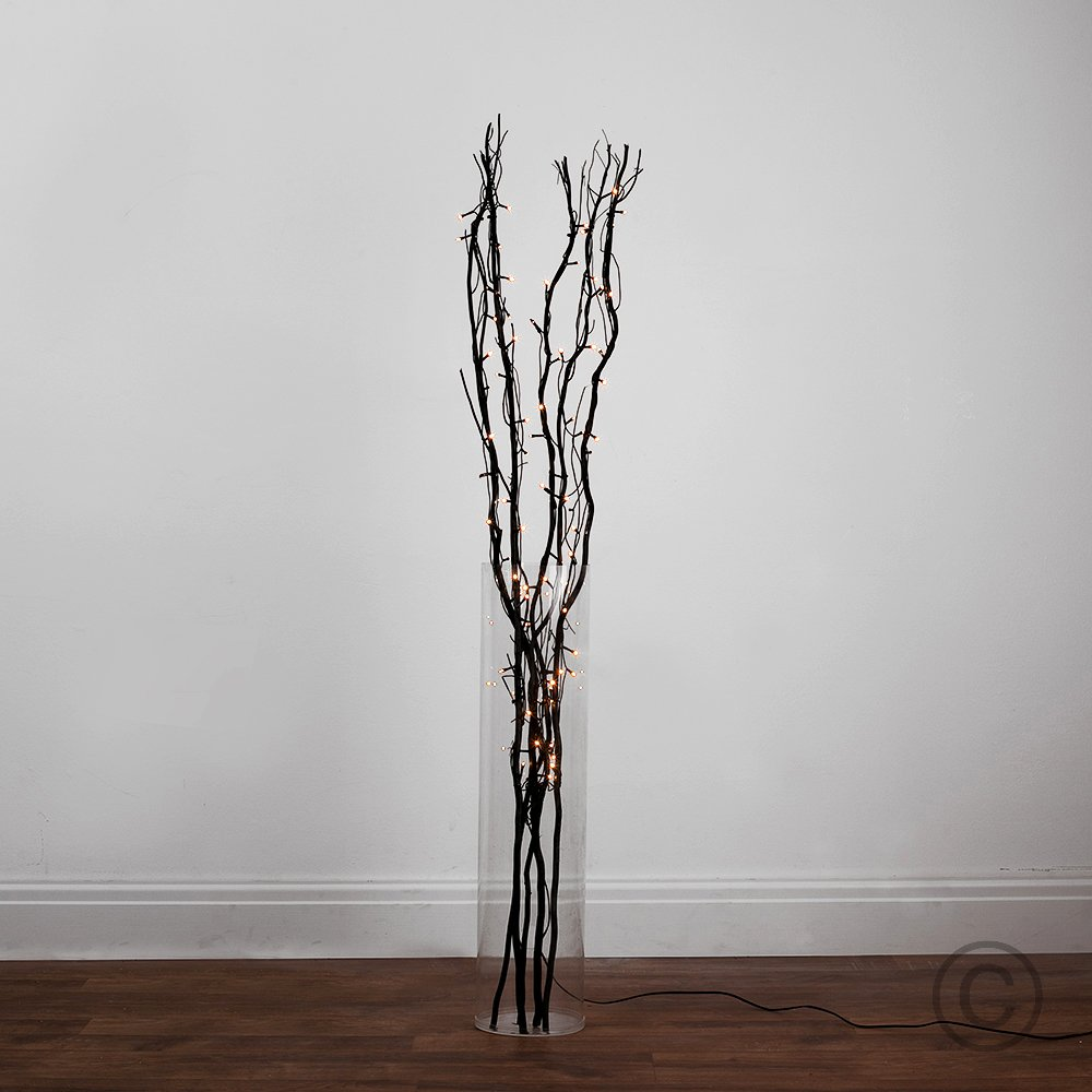 Beautiful MiniSun 1.2m Decorative Black Wooden Twig Branch Fairy Lights Floor  Lamp: Amazon.co.uk: Lighting