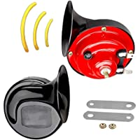 none band Universal 300 DB Super Train Horn,2pc Snail Double Horn for Trucks,Cars Motorcycle and Boats with 12V Power