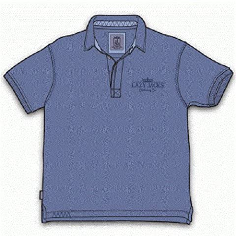 Lazy Jacks Kids Pigment Dyed Polo Shirt Age 3/4 Years