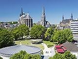Artland Qualitätsbilder I Bild auf Leinwand Leinwandbilder Wandbilder 60 x 45 cm Städte Deutschland Aachen Foto Blau B7LT Aachen City
