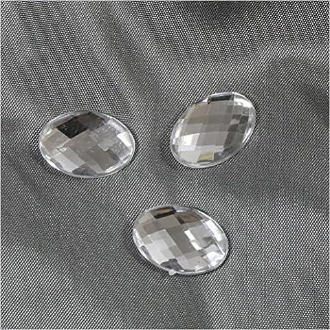 Cabuchón adhesivo de accesorio de acrílico (lote de 5de color transparente) dimenssion: (L) 18x (L)