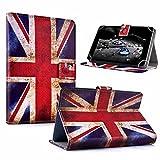 """#DoYourMobile© 10Zoll Tasche / Schutzhülle für Tablets / Tablet-PCs - wasserabweisendes Kunstleder mit 4Punkt-Gurthalterung in der Größe 27,5 x B 20cm / für Tablets mit Bildschirmgröße ca. 9,6-10,3"""" / Design : England"""