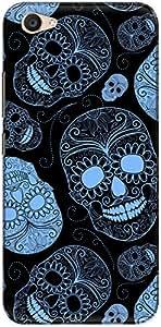 The Racoon Lean printed designer hard back mobile phone case cover for Vivo V5 Plus. (Blue Skull)