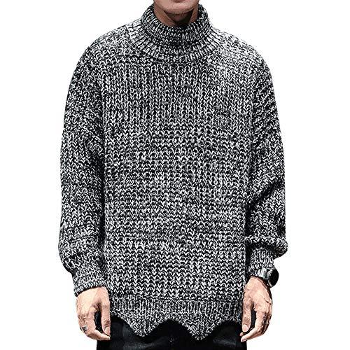 BAICHEN Men es Knit Jumper, Herrenrunde Neck Knit Pullover Sweater Greater Grey,Gray,M -